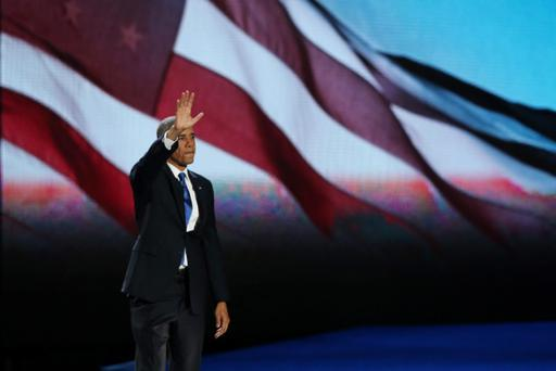 CHICAGO, IL - NOVEMBER 06: U.S. President Barack Obama waves to supporters after his victory speech at McCormick Place November 6, 2012 in Chicago, Illinois. Obama won reelection against Republican candidate, former Massachusetts Governor Mitt Romney. (Photo by Win McNamee/Getty Images)