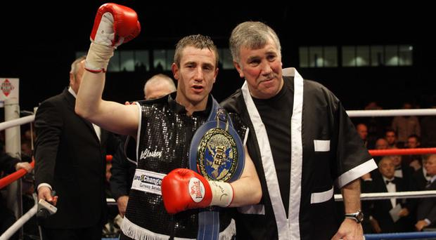 Paul McCloskey and coach John Breen after one of many successful nights