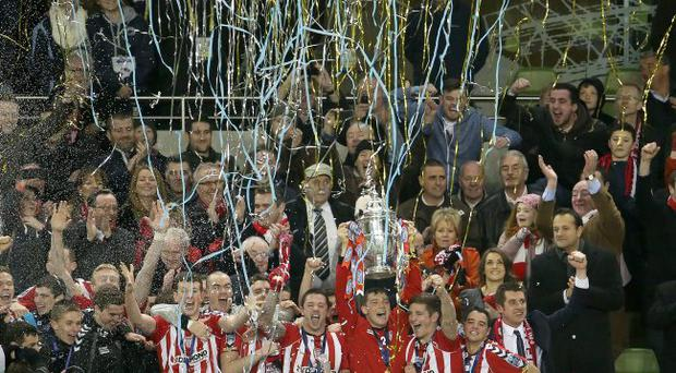 Crying game: Derry City's jubilation will be tempered by Ni Chuilin's insistence that there's no money for the Brandywell