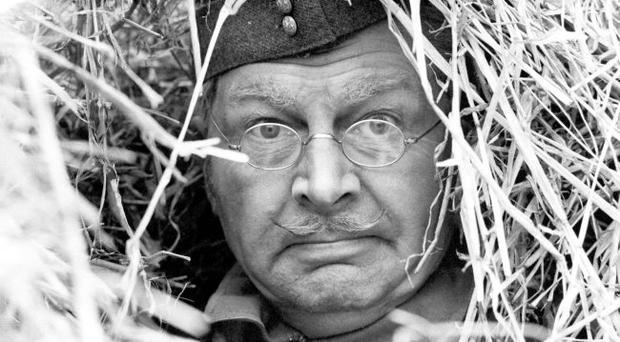 Clive Dunn as the bumbling Corporal Jack Jones in a scene from the much-loved sitcom Dad's Army