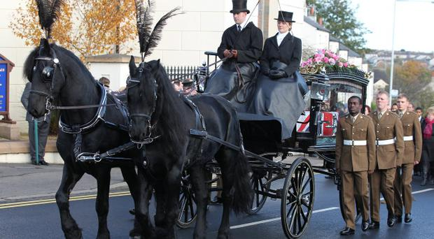 The funeral cortage of Corporal Channing Day