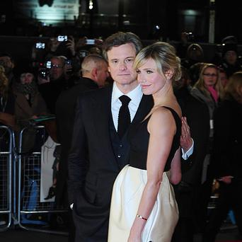 Colin Fith and Cameron Diaz arriving for the premiere of Gambit at the Empire Leicester Square