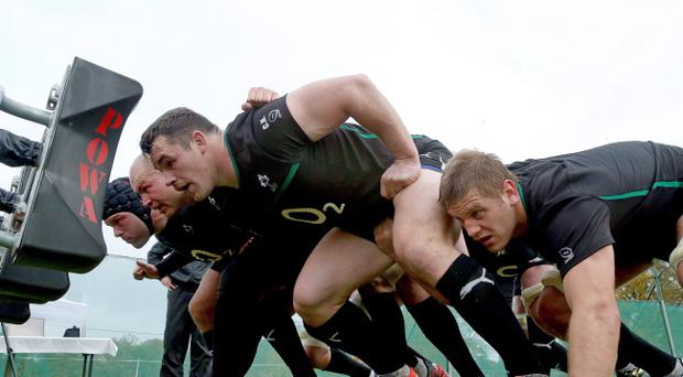 Prop Cian Healy is one of the cornerstones of Ireland's pack