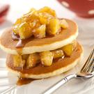 Pancakes with spiced apple & maple compote
