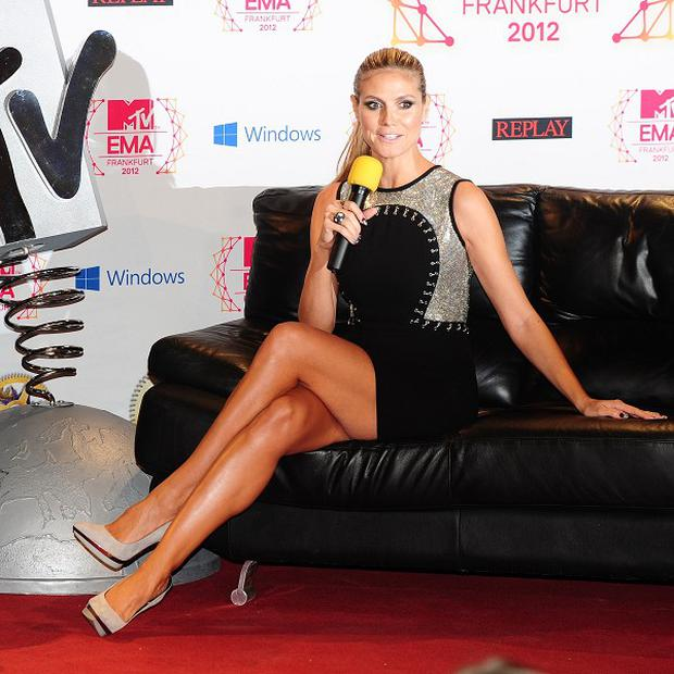 Heidi Klum ahead of the MTV European Music Awards in Frankfurt, Germany. (PA)