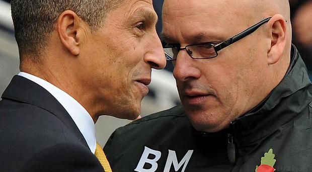 Chris Hughton, left, and Brian McDermott were both content with a clean sheet at the Madejski Stadium