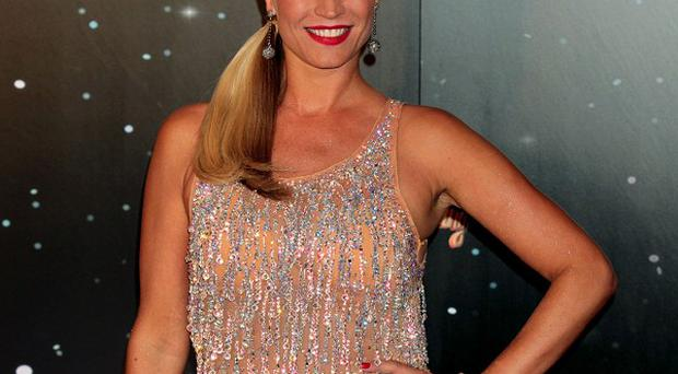 File photo dated 11/9/12 of Denise Van Outen who has had to put rehearsals on hold for Strictly Come Dancing after damaging her neck. PRESS ASSOCIATION Photo. Issue date: Thursday October 11, 2012. See PA story SHOWBIZ Strictly. Photo credit should read: Yui Mok/PA Wire