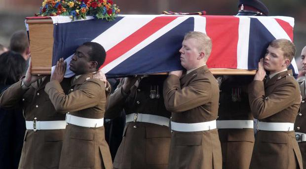 True heroine: the body of Channing Day is repatriated from Afghanistan