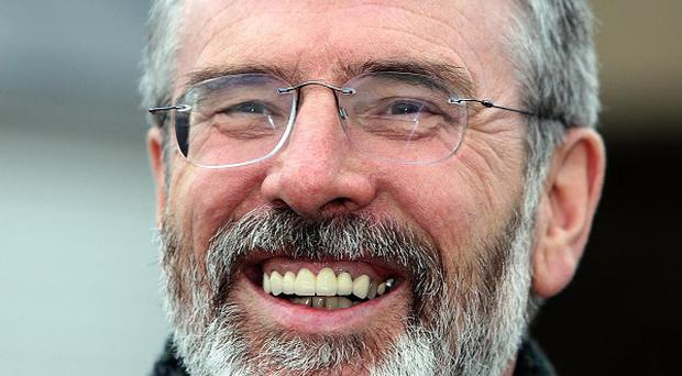Gerry Adams has vowed to step up Sinn Fein's campaign for a border poll
