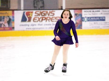 09.11.12. PICTURE BY DAVID FITZGERALDHollie Andrews aged 11 ice-skating at the Dundonald Ice Bowl.
