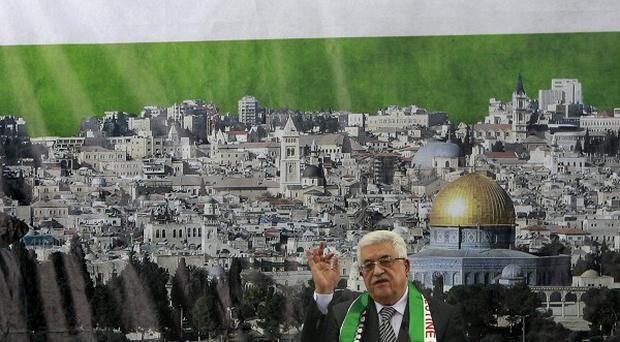 Mahmoud Abbas said Palestinians will request to update their status at the UN on November 29, it has been reported (AP)