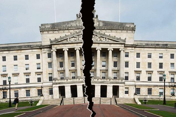 Power-sharing in Northern Ireland stands on the brink after First Minister Peter Robinson stepped down