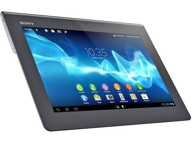 Sony Xperia Tablet S This Android tablet has some of the snazziest styling available. It's thicker on one side than on the other, to make it rest more easily in the hand when you're reading an ebook, say. It's fast and powerful, and even runs PlayStation games. From £329, sony.co.uk