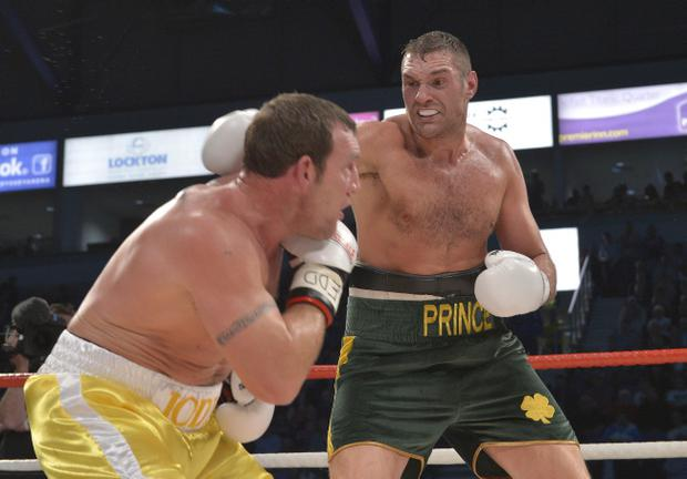 Tyson Fury (right) vows to rise to the occasion against Kevin Johnson