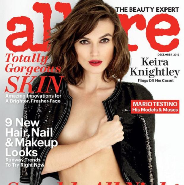 Keira Knightley was photographed by Mario Testino for Allure magazine