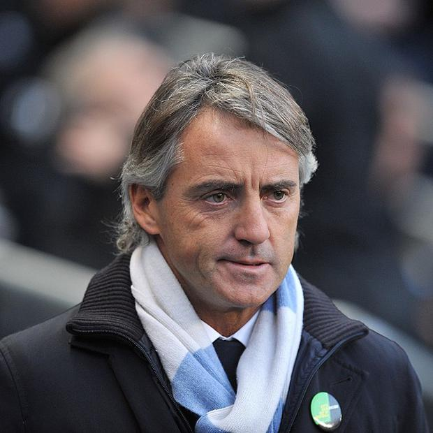Roberto Mancini was named manager of the year at the North West Football Awards