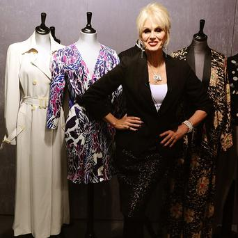 Joanna Lumley has auctioned off her Ab Fab wardrobe in aid of the Prince's Trust