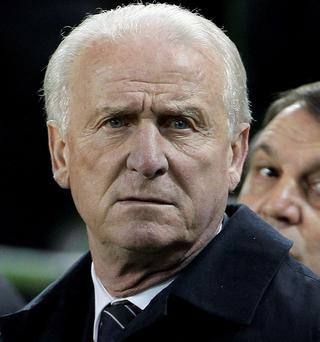 Republic of Ireland manager Giovanni Trapattoni during the International Friendly at the Aviva Stadium, Dublin