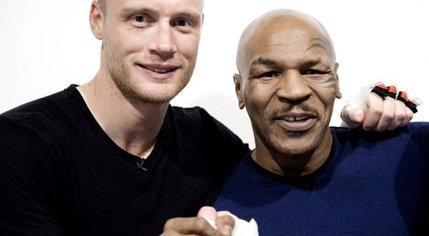 In his quest to become a professional boxer, Freddie Flintoff has some of the sport's biggest names in his support network but none more so than former World Heavyweight Champion Mike Tyson who paid him a visit to offer some advice