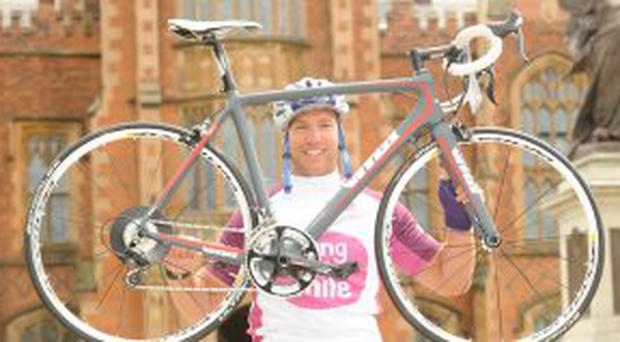 STEPHEN FERRIS SWAPS RUGBY FOR CYCLING TO GO THE EXTRA MILE FOR CHILDREN  WITH CANCER Ulster 45a112023