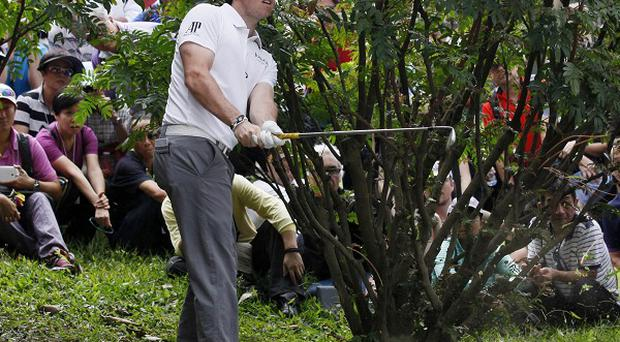 Rory McIlroy carded a first-round 73 (AP)