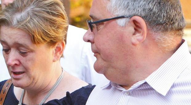 Andy and Rhian Sebbage attended the inquest into the death of their son Robert at North Hampshire Coroner's Court in October last year