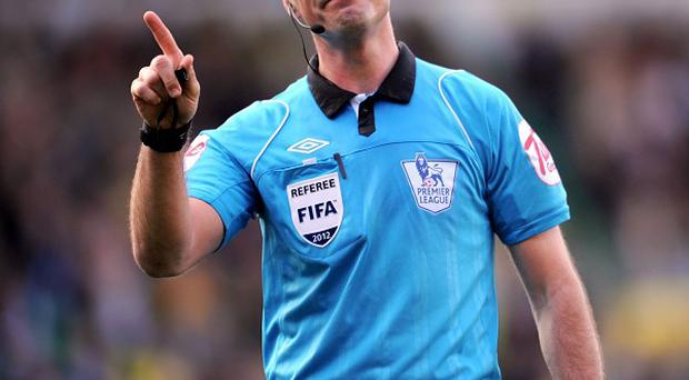 Mark Clattenburg hasn't officiated in a match for three weekends