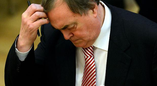 Lord Prescott reacts at Bridlington Spa as votes are counted in the election for Humberside Police and Crime Commissioner