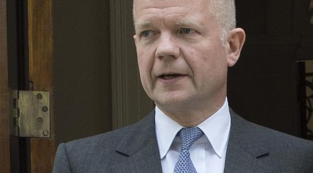 Foreign Secretary William Hague said Israel and the Palestinians should act to calm a crisis between them