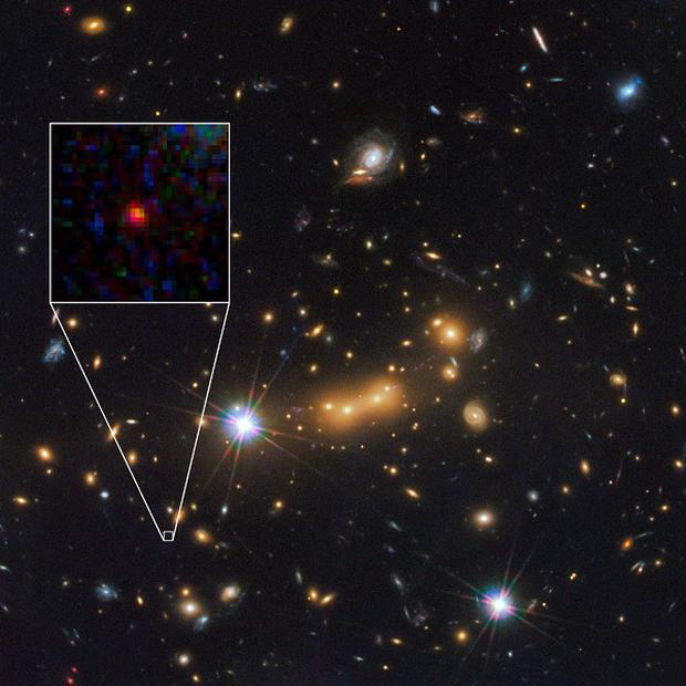 This Hubble Space Telescope image shows what is thought to be the most distant object ever observed (NASA/ESA/Hubble/PA Wire)