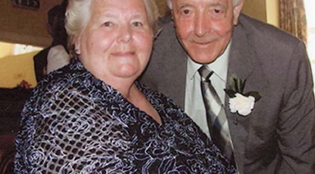 Bertie Acheson, pictured with his wife Sheila, who suffered a heart attack and died after an altercation with an intruder at their home (PSNI/PA Wire)
