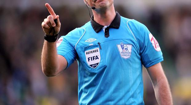 Mark Clattenburg has not officiated a football match for three weekends