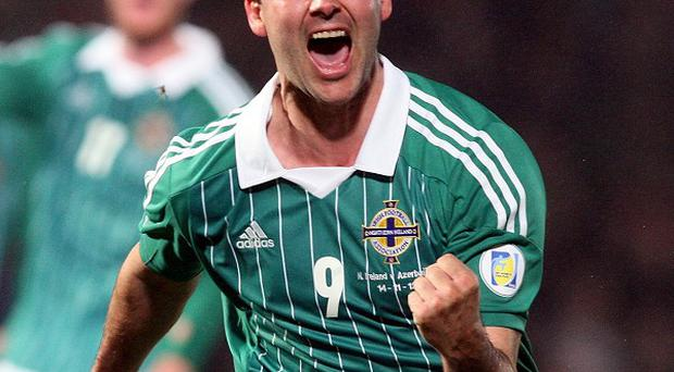 David Healy scored his 36th goal for Northern Ireland on Wednesday against Azerbaijan
