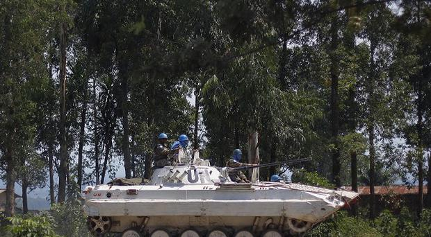 A United Nations Organisation Stabilization Mission vehicle in the DR Congo (AP)