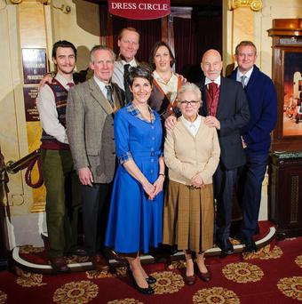 The celebrity cast of a one-off performance of The Mousetrap at St Martin's Theatre in London, to mark the 60th anniversary of the show