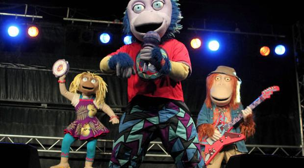 ZingZillas on stage at Belfast City Council light switch on