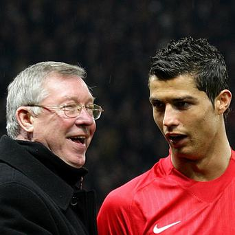 Sir Alex Ferguson, left, and Cristiano Ronaldo, right, during their time together at Manchester United