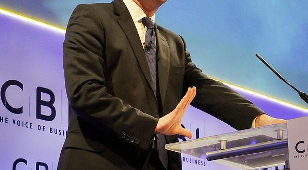 Prime Minister David Cameron addresses the CBI conference at the Grosvenor House Hotel in central London