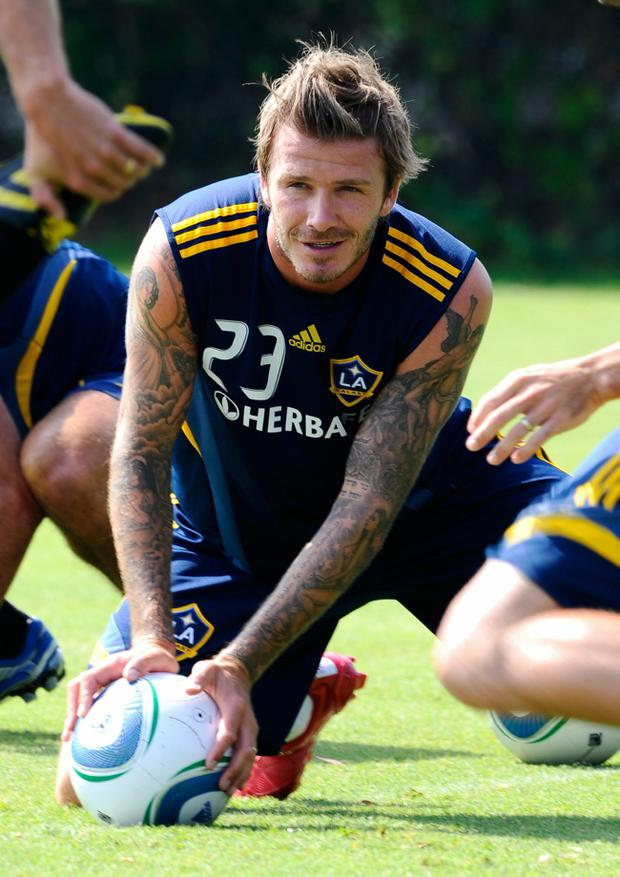 David Beckham is seeking to extend his playing career elsewhere