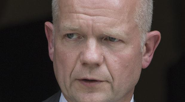 William Hague says Britain supports Egypt's efforts to mediate between Israel and Palestinians