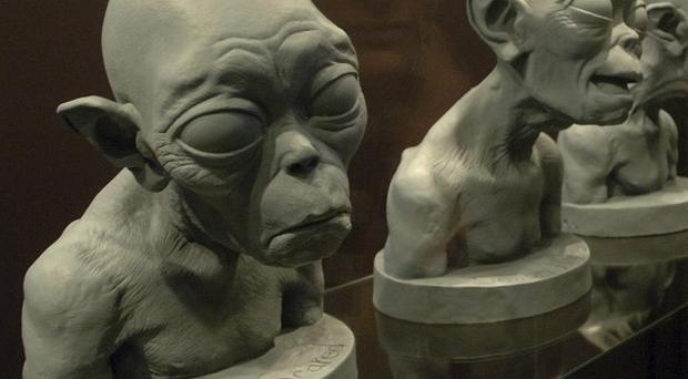 Original studies of Gollum at the The Lord of the Rings exhibition at the Movie Park of Potsdam-Babelsberg, Germany (AP/Sven Kaestner)