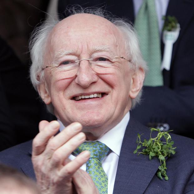 Michael D Higgins is visiting Liverpool and Manchester in the UK