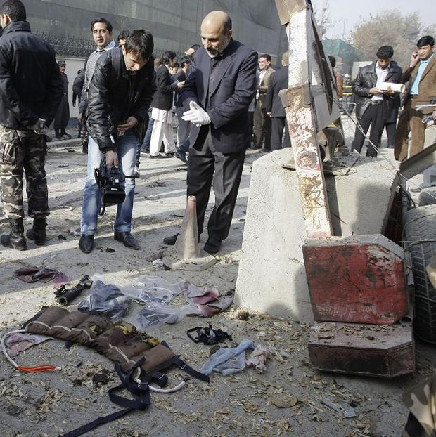 Two Afghans were killed in a suicide bombing in Kabul (AP)