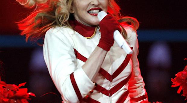Madonna appeared on stage in Miami around 11.30pm