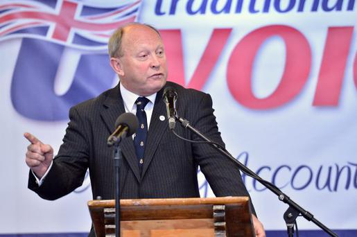 Jim Allister at the TUV conference in Cookstown