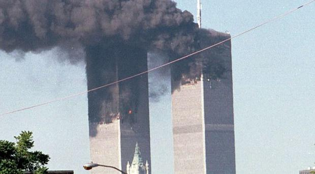 Terrorists flew two commercial jets into the New York trade centre towers on September 11