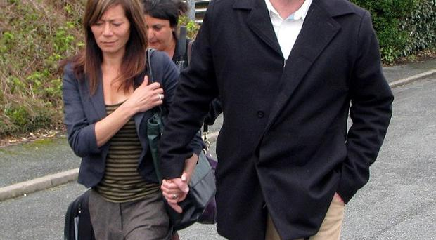 Anna Ryder Richardson with her husband Colin MacDougall, who admitted safety breaches