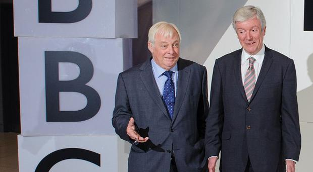 Tony Hall, right, and BBC Trust chairman Lord Patten
