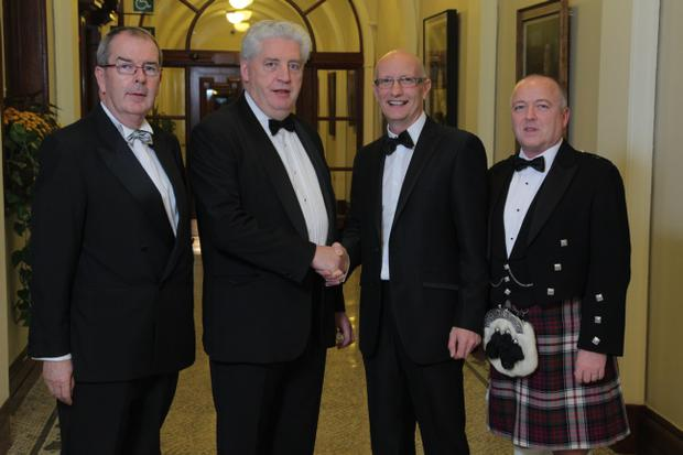Padraig Cribben, Dr Alasdair McDonnell MP, Colin Neill and Colin Wilkinson