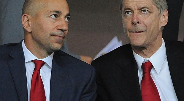 Ivan Gazidis, left, says money will be available for manager Arsene Wenger to spend